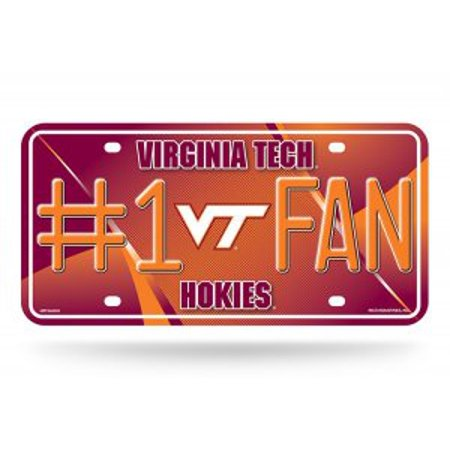 Virginia Tech Hokies Metal - Virginia Tech Hokies #1 Fan Metal License Plate