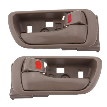 Pair Left Right Inside Inner Interior Door Handle Tan For 2002-2006 Toyota
