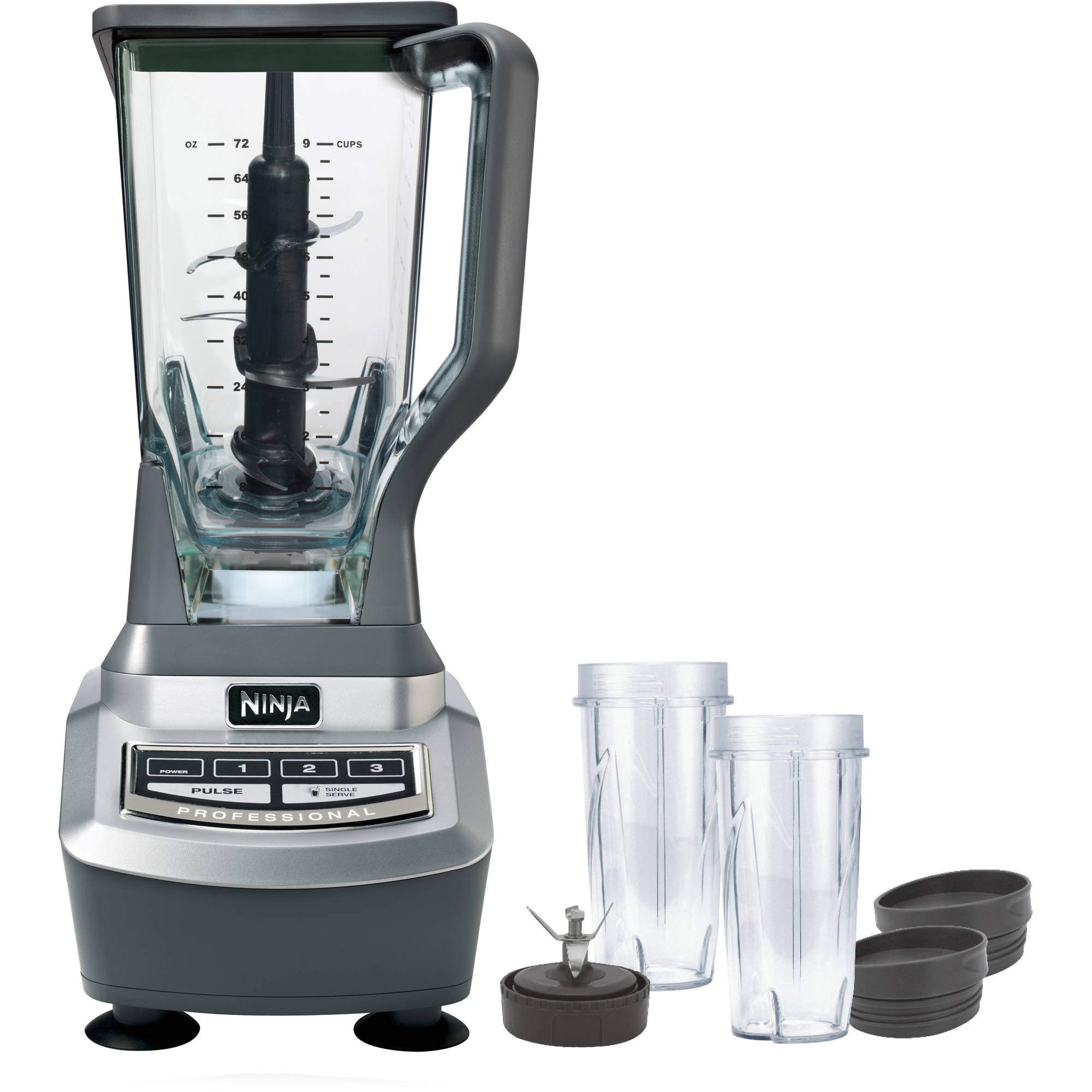 Ninja Professional Blender With Single Serve Cups (BL740
