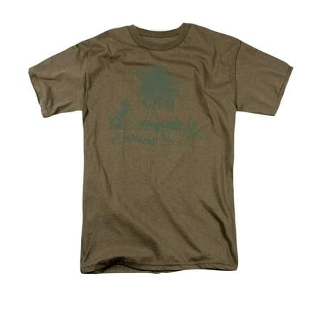 Hawaiian Village Funny Adult T-Shirt Tee
