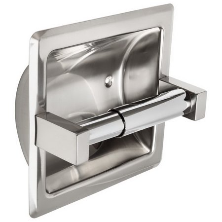(Price/each)Harney Hardware 13060 Recessed Toilet Paper Dispenser, Single Roll Roll Recessed Toilet