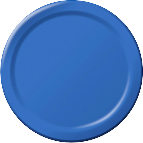 Creative Expressions 9'' Dinner Plates - 24-Pack, True Blue