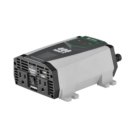 Cobra CPI 490 Compact 400 Watt Power Inverter (Certified Refurbished) Cobra 400w Power Inverter