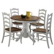 The French Countryside Oak and Rubbed White 5-Piece Dining Set