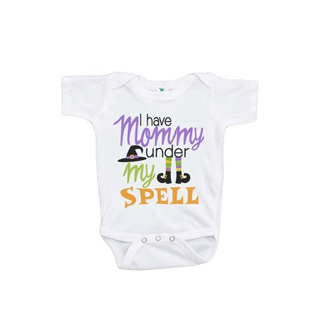 Custom Party Shop Baby's Mommy's Under My Spell Halloween Onepiece - 0-3 Month Onepiece (Mommy And Baby Halloween Costumes)
