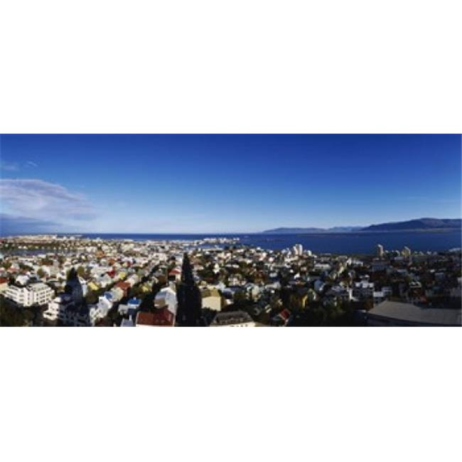 High angle view of a city  Reykjavik  Iceland Poster Print by  - 36 x 12 - image 1 of 1
