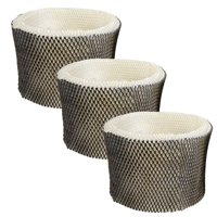 HQRP 3-pack Wick Filter for Honeywell HEV680 series HEV-680B HEV680B HEV-680W HEV680W Humidifiers, HC-14 HC-14N Filter E Replacement + HQRP Coaster