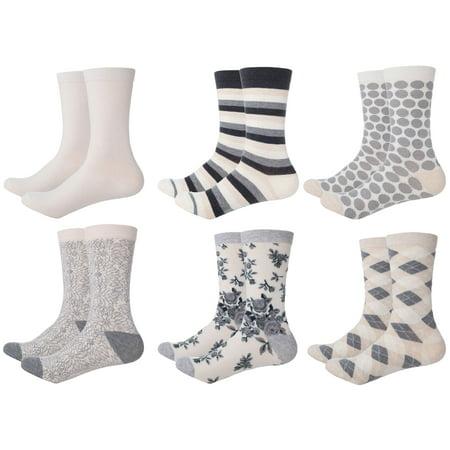 Mio Marino Womens Dress Socks - Colorful Patterned Socks for Women Silver Cycling Socks