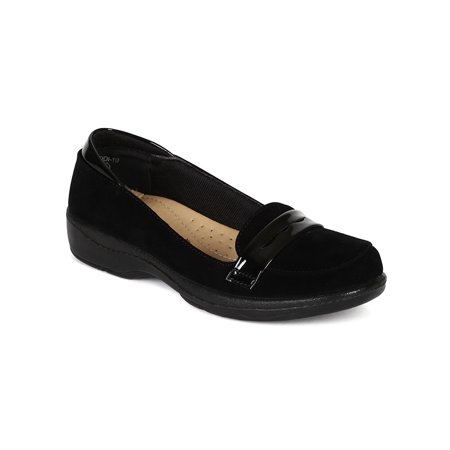 - New Women Refresh Jodi-10 Suede Cushioned Slip On Work Low Heel Loafer Flat