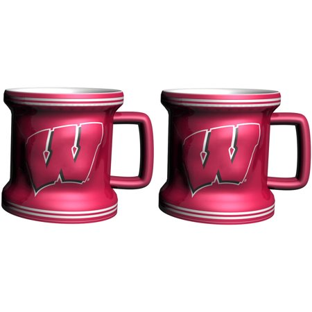 NCAA Wisconsin Badgers 2-Pack Sculpted Mini Mug