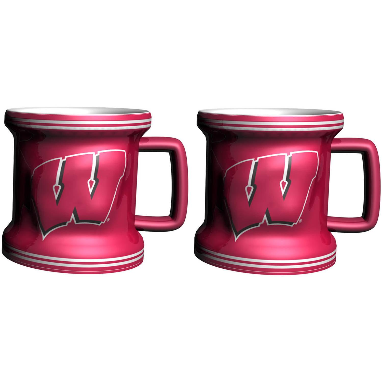 NCAA Wisconsin Badgers 2-Pack Sculpted Mini Mug