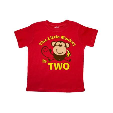 Little Monkey 2nd Birthday Boy Toddler T Shirt