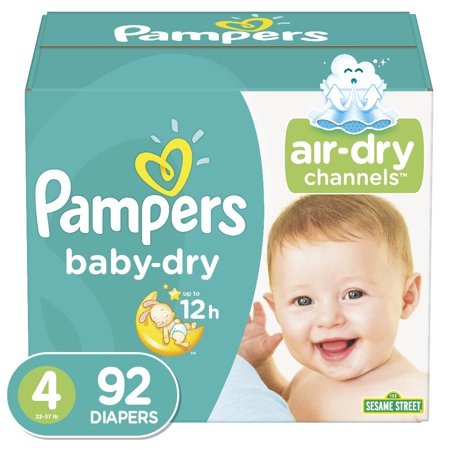 Pampers Baby-Dry Extra Protection Diapers, Size 4, 92 ct