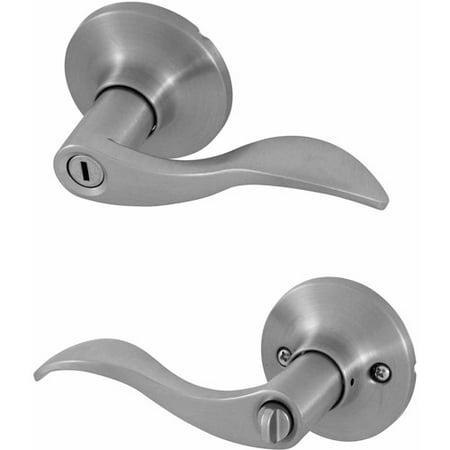 - Honeywell Wave Lever Privacy Door Lock, Satin Nickel
