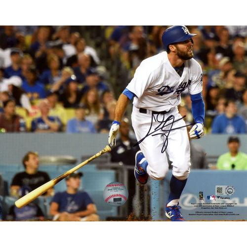 """Chris Taylor Los Angeles Dodgers Fanatics Authentic Autographed 8"""" x 10"""" Hitting Photograph - No Size"""