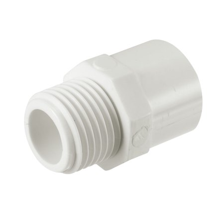 20mm Slip x 1/2 PT Male Thread PVC Pipe Fitting Adapter Connector 10 Pcs - image 1 of 4