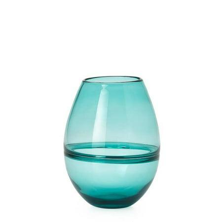 Torre & Tagus Saturn Ring 9†Glass Bullet Vase - -
