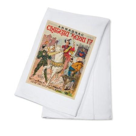 Armagnac Chateau Herni IV Vintage Poster France (100% Cotton Kitchen Towel)