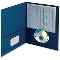 Smead 87854 Dark Blue Two-Pocket Heavyweight Folders SMD87854