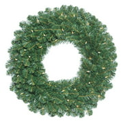 """Vickerman 36"""" Oregon Fir Artificial Christmas Wreath with 100 Clear Lights"""