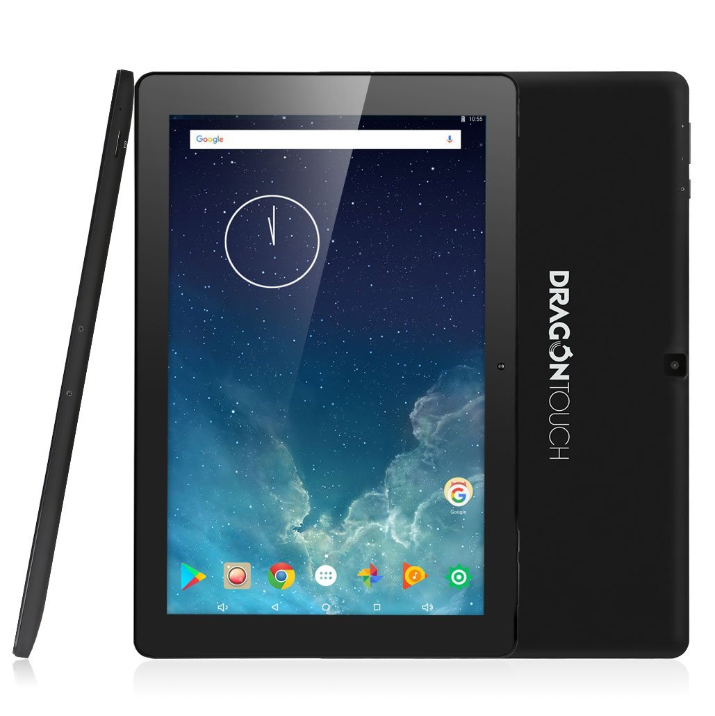 Dragon Touch X10 10.1 inch 2GB RAM 16GB Nand Flash Android 7.0 Tablet,10 Inch Quad Core 800x1280 IPS Display Android Tablet with Bluetooth and Micro HDMI GMS Certified