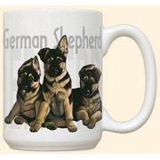 German Shepherd Puppies Mug by Fiddler's Elbow - C114FE