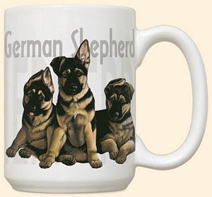 German Shepherd Puppies Mug by Fiddler's Elbow - C114FE