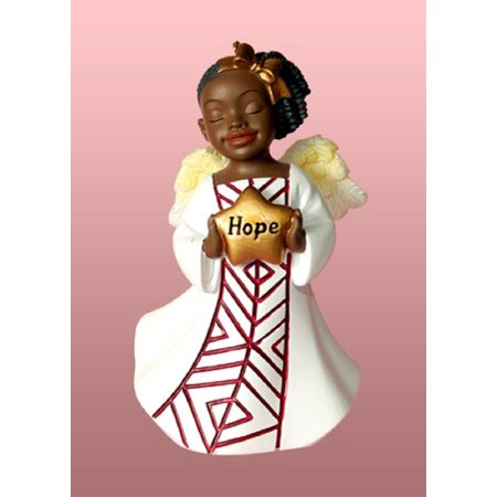 African American Hope Angel Holding Star Christmas Tree Ornament Decoration New