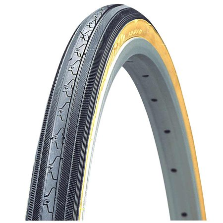 Kenda Hp-90psi K35 Road Bicycle Tire (Black/Gum Sidewall - 27 x 1