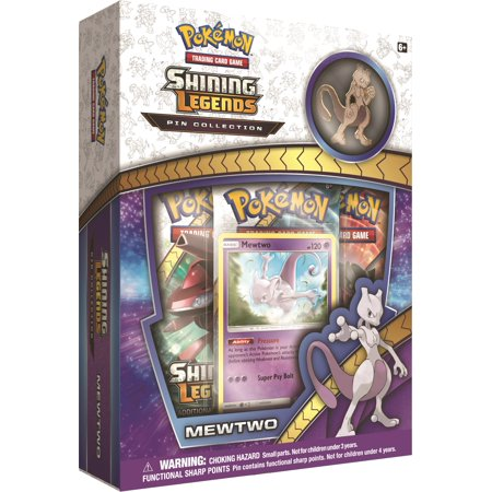 - Pokemon Sun & Moon Shining Legends Mewtwo Pin Box