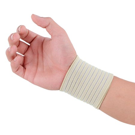 Adjustable Sports Gym Wrist Wrap Bandage Support Strap Guard Band Protector Beige