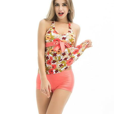 ae0028e2a07 Women s Sexy Swimsuit Swimwear Bathing Push Up Padded Bikini Top with  Shorts - Walmart.com
