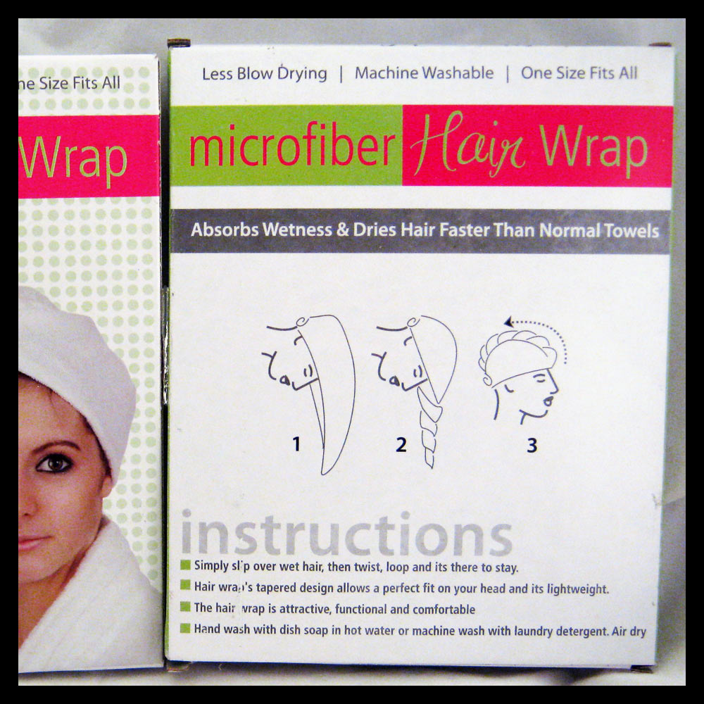4 Twist Dry Shower Microfiber Hair Wrap Towel Quick Drying Bath Spa