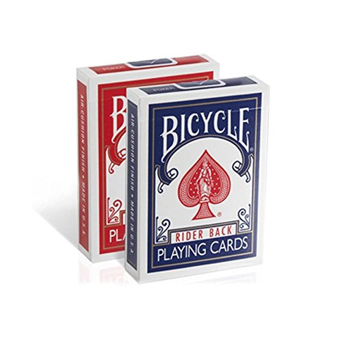 Poker Size Standard Index Playing Cards Packs in Bulk Wholesale (Pack of 12) by Bicycle