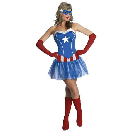 Halloween Avengers Adult American Dream Costume (Halloween At Great America)