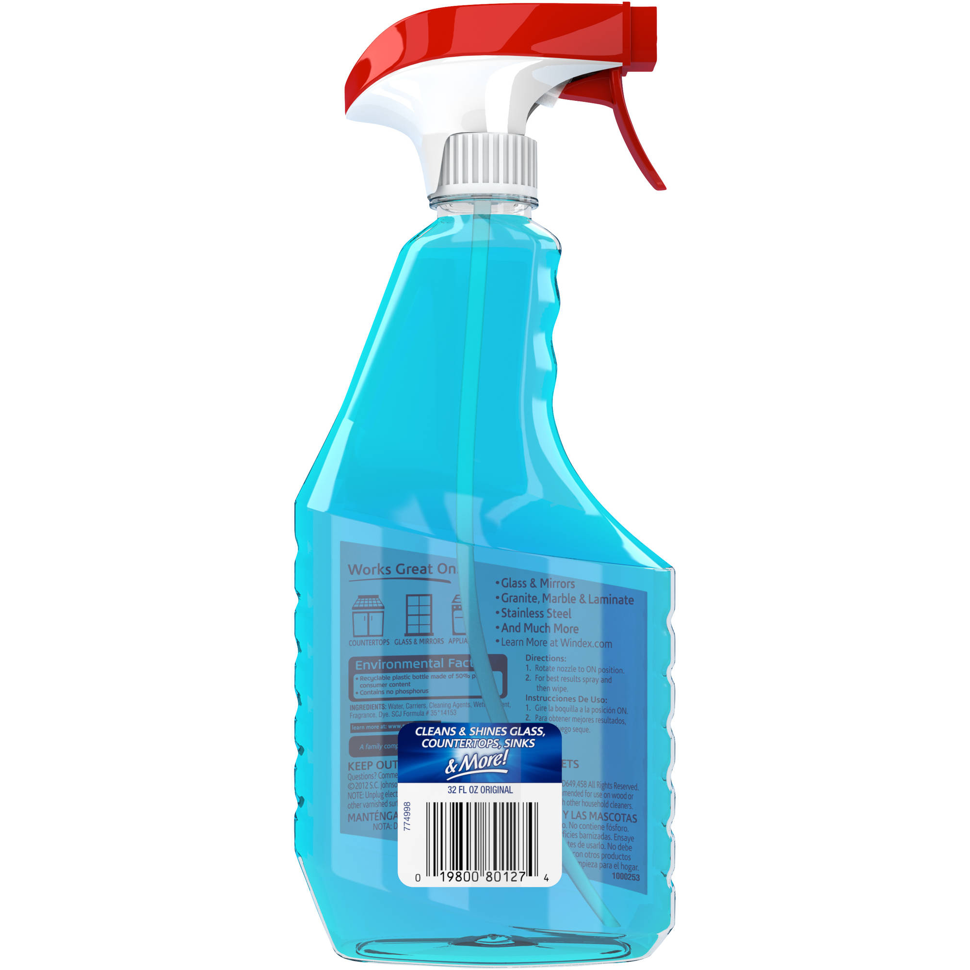 Windex Commercial Line Glass Cleaner With Ammonia D Msds
