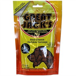 Great Jack's Training Treats, Real Cheese, 7 oz