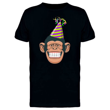 Chimpanzee With Party Hat Tee Men's -Image by (Mens Hot Images)