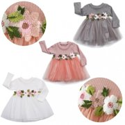 3Colors for Choose-1PC Baby Girls Dress Birthday Party Princess Pageant Prom Tulle Tutu Dress 3M-3Y