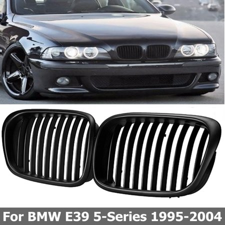 Matte Black Front Hood Kidney Grill Grille For  5 Series plasticgrille E39 525 528 530 535 540 M5 1997-2003 US NEW