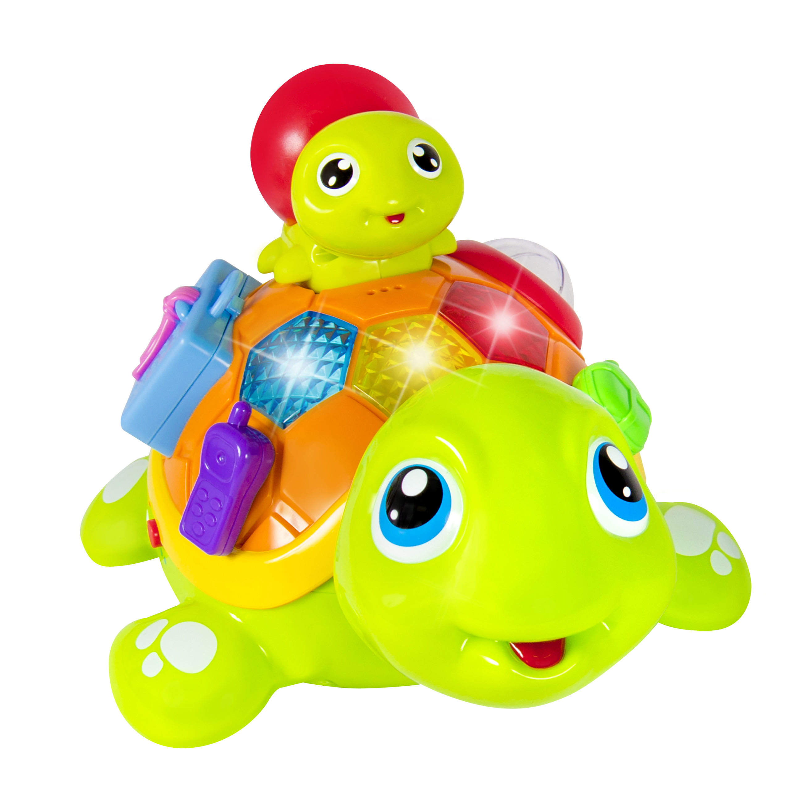 Educational Family Talking Turtle Toy Game Laugh & Learn Crawling Developmental