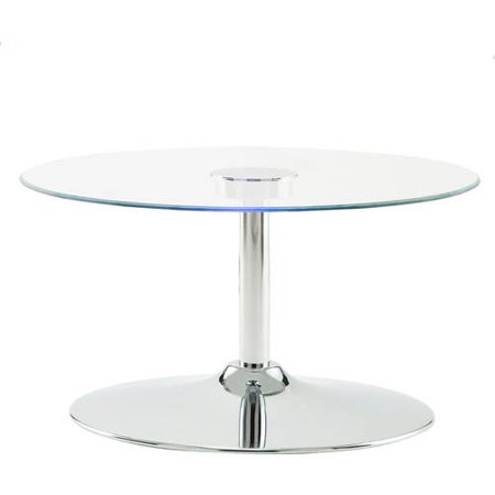 Chelsea Lane Ivo LED Cocktail Table, Metal and Chrome
