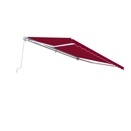 ALEKO Retractable 13' x 10' (4m x 3m) Solid Burgundy Color Patio Awning