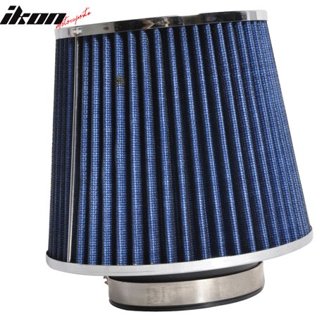 3 Inch Race Performance Cold Air Intake Cone Filter Blue Benz E SL SLK
