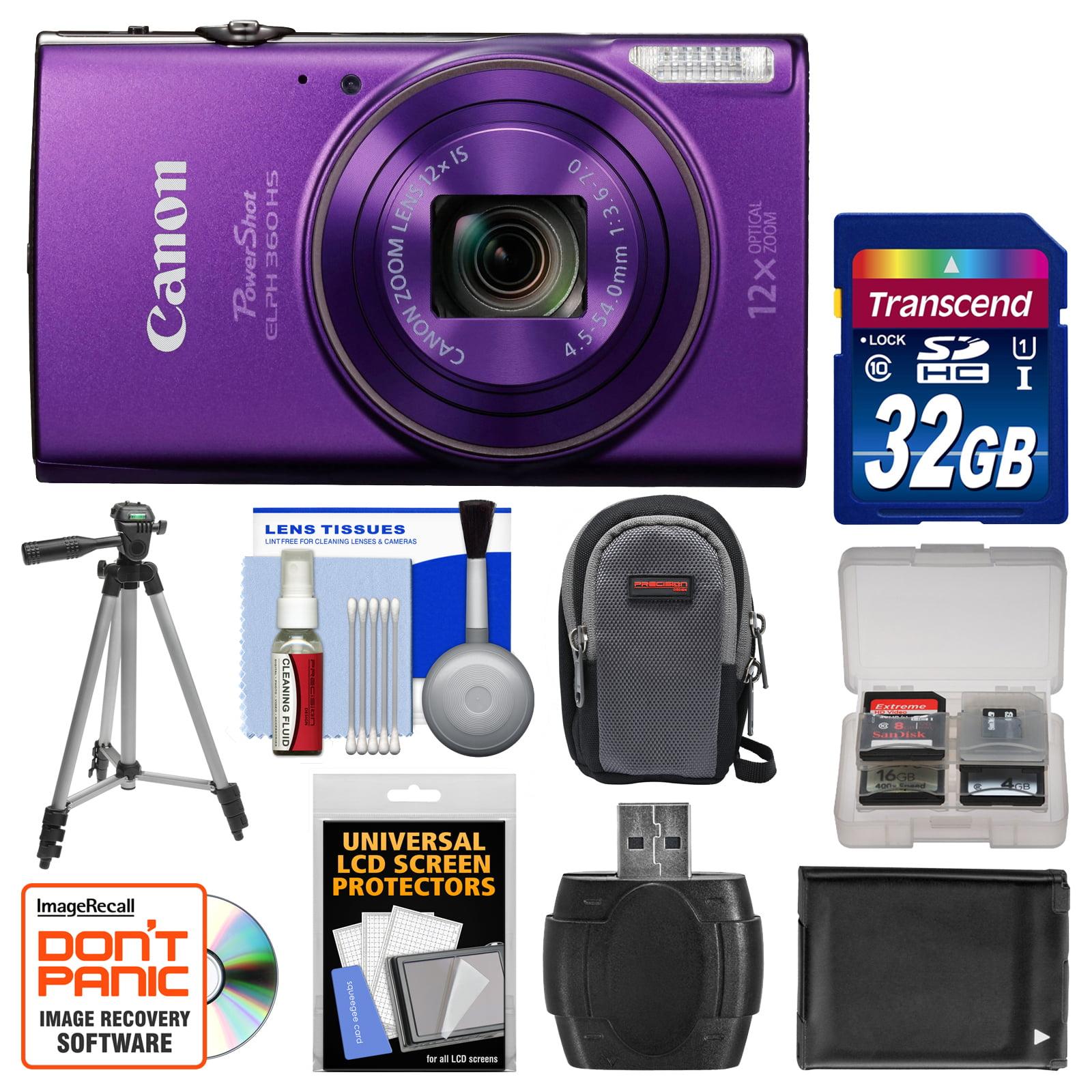 Canon PowerShot Elph 360 HS Wi-Fi Digital Camera (Purple)...