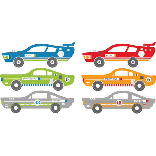 Wallpops Rally Racers Dot Decals