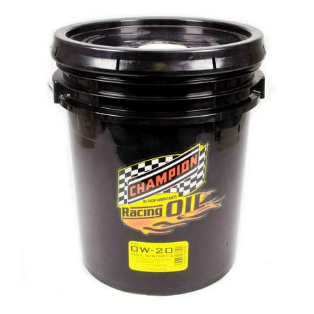 Champion brand racing 0w20 motor oil 5 gal p n 4360d for Racing motor oil brands