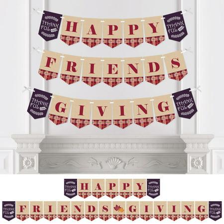 Classroom Thanksgiving Decorations (Friends Thanksgiving Feast - Friendsgiving Party Bunting Banner - Party Decorations - Happy Friends)