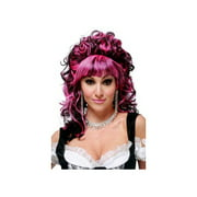 California Costume Collections Pink & Black French Maid Wig 70682CAL Pink/Black