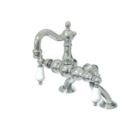 Design Leg Tub Filler - kingston brass cc2006t1 3.37 x 10 in. adjustable deck mount leg tub filler & metal lever handle chrome